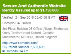 Comodo トラストロゴ 企業認証 マウスオーバー