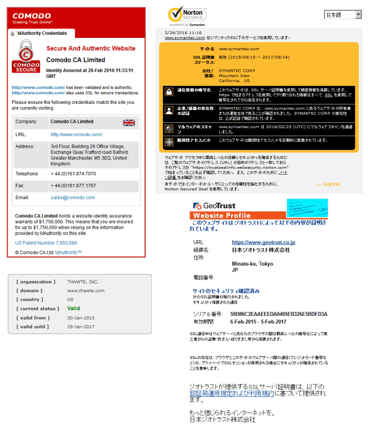 各発行元の身分証明書イメージ