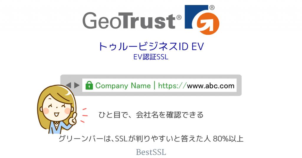 GeoTrust トゥルービジネスID EV