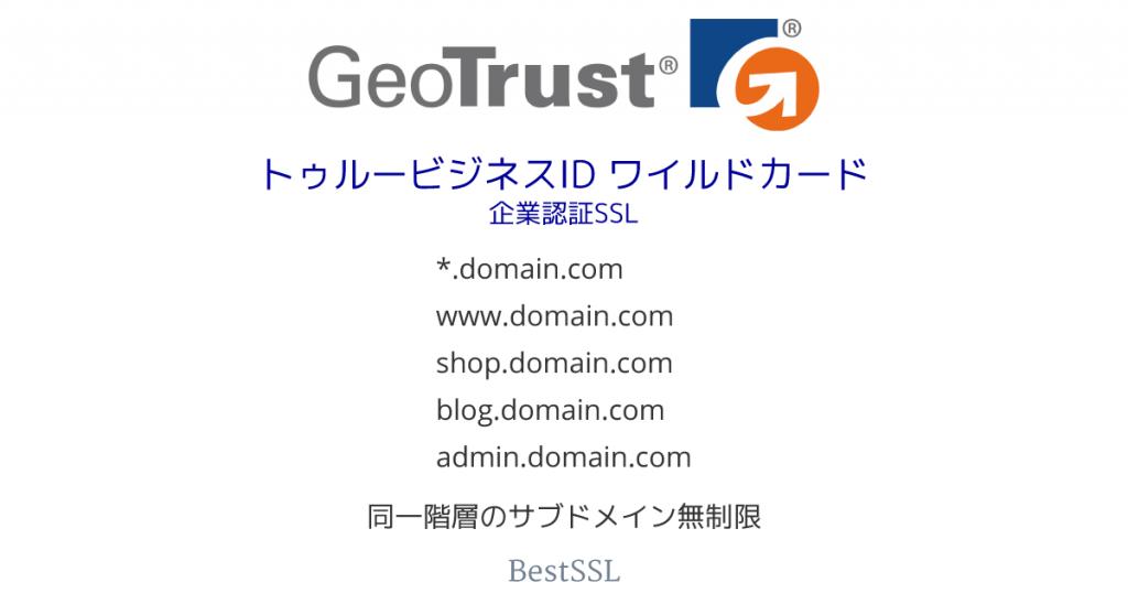 GeoTrust トゥルービジネスID ワイルドカード