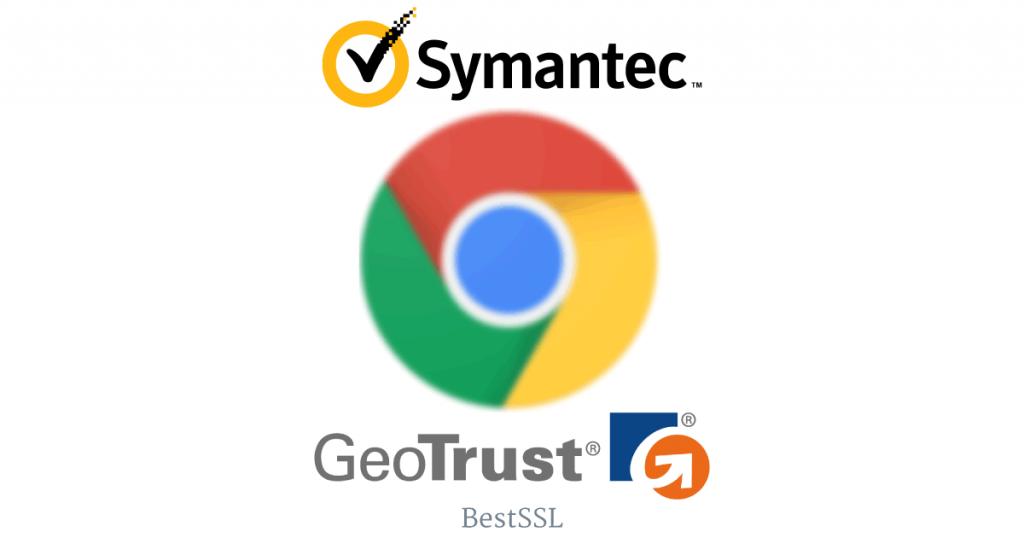 Symantec・GeoTrust SSL証明書導入サイトで、Google Chrome 警告/エラー表示のおそれ