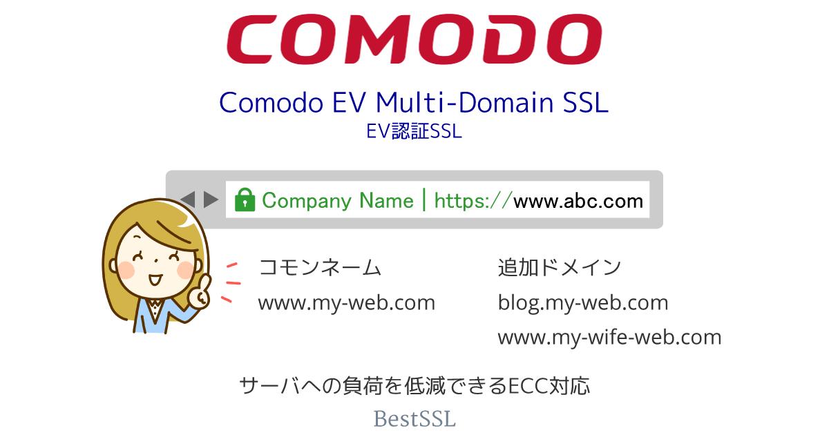 Comodo EV マルチドメイン SSL