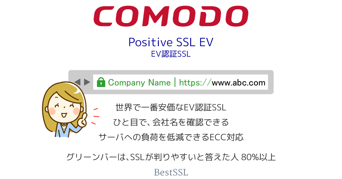 Comodo ポジティブ SSL EV