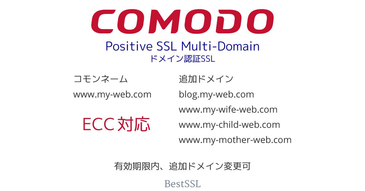 Comodo ポジティブ SSL マルチドメイン